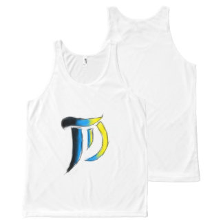 T.D. Unisex- Sleeveless van het Logo van kunsten All-Over-Print Tank Top