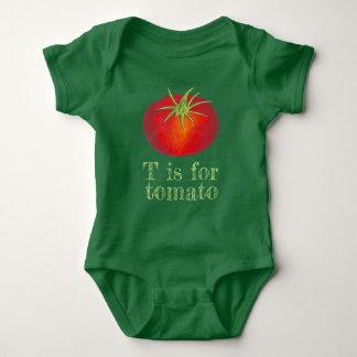 T is voor Plantaardige Veggie van de Tomaten van Romper
