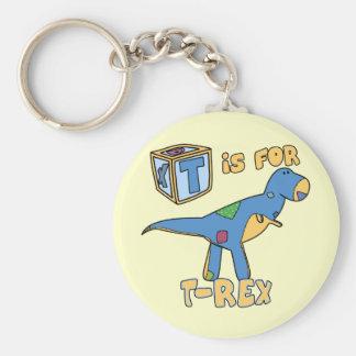 T is voor t-Rex Keychain Sleutelhanger