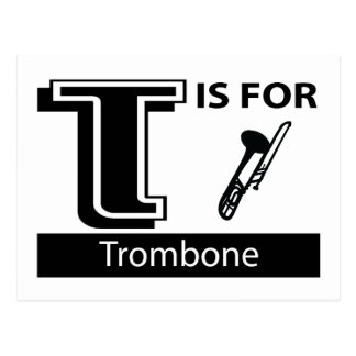 T is voor Trombone Briefkaart