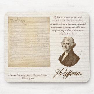 T. Jefferson: Advies & Reden - Mousepad Muismat