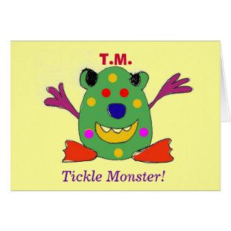T.M., het Monster van het Kietelend gevoel! Kaart