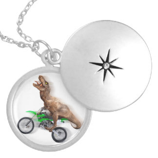 T rex motorfiets - t rex rit - het Vliegen t rex Locket Ketting