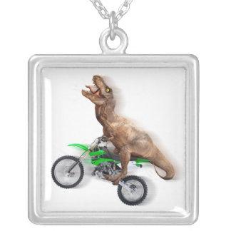 T rex motorfiets - t rex rit - het Vliegen t rex Zilver Vergulden Ketting