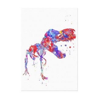 T Rex skelet Canvas Afdruk