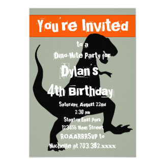 T Rex Uitnodiging van de Partij van de Verjaardag