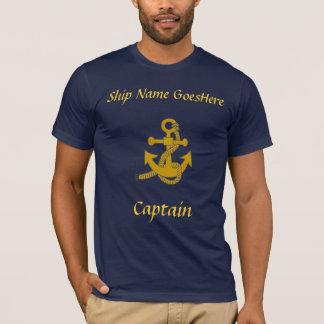 T-shirt - Anker, schipnaam