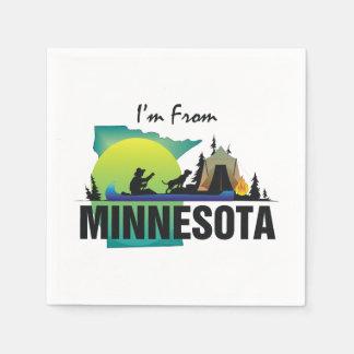 T-SHIRT ben ik van Minnesota Wegwerp Servetten