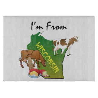 T-SHIRT ben ik van Wisconsin Snijplank