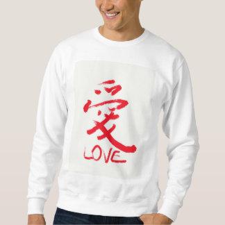 """T-shirt de Chinese van de brieven """"liefde"""""""