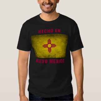 T-shirt - de Engelse Nuevo Mexico Vlag van Hecho