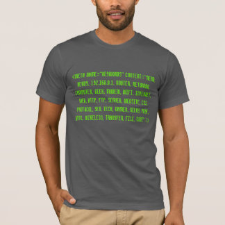 T-shirt de van bron HTML van Geeky van de Code