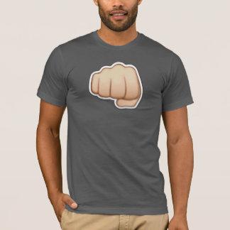 T-shirt grijs + emoji vuist iphone