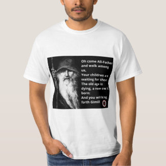 T-shirt met afbeelding Odin & tekst, Kaler het