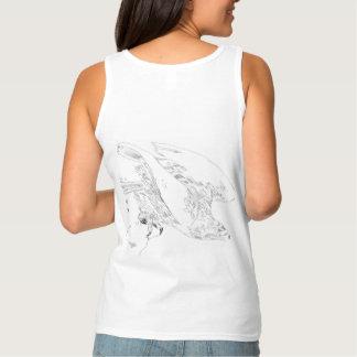 T-shirt met Eagle in Pen en Inkt