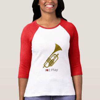 T-shirt met illustratie van een trompet