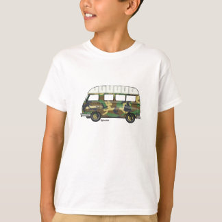 T-shirt met Renault Estafette in camouflage