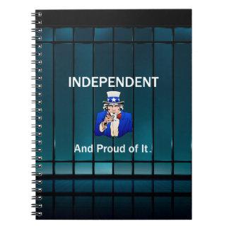 T-SHIRT Onafhankelijk en Trots van het Notitieboek