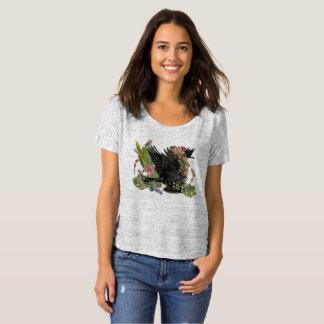 T-shirt Slouchy van de Geest van de raaf de