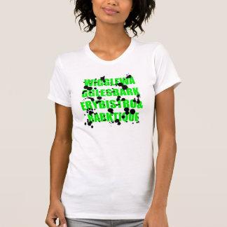 T-shirt Splat van de Kleding van dames het Amerika