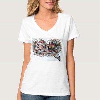 T-shirt -  Stijl Hanes nano V-hals
