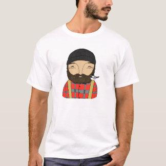 T-shirt van Chickadee Hipster van de houthakker de
