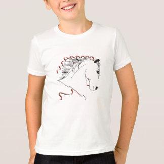 T-shirt van de Bel van het Paard van meisjes de
