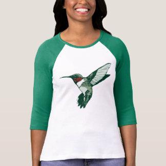 T-shirt van de Kolibrie Throated van de cartoon de