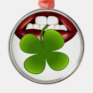 t-shirt van de kus de hete Ierse gift Zilverkleurig Rond Ornament