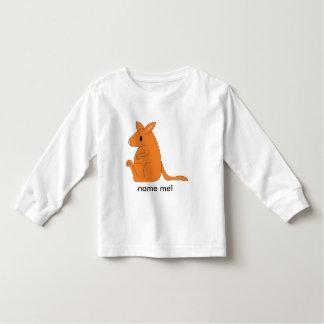 t-shirt van de peuter de lang-sleeved kangoeroe