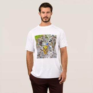 T-shirt van de Schedel van het mannen de Gouden