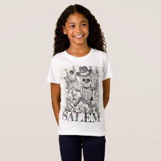 T-shirt van de Schedel van Salem Massachusetts het
