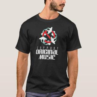 t-shirt van de steun de originele muziek