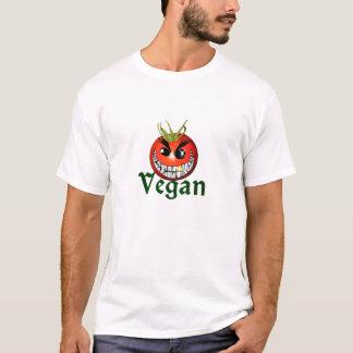 T-shirt van de tomatensmiley van de veganist het