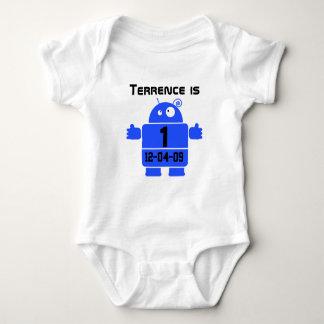 T-shirt van de Verjaardag van de robot de
