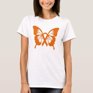 T-shirt van de Vlinder van de leukemie de Oranje