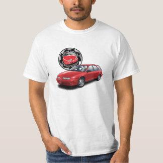 T-shirt van de Wagen van SCCNA de Hete Rode Saturn
