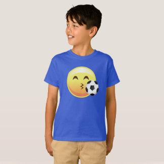 T-shirt van Emoji Emoticon van het Voetbal van