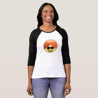 T-shirt van Emoji van de Tulband van de Zonnebril