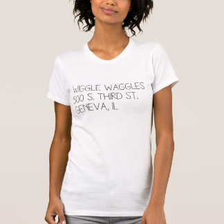 T-shirt van het Adres van de Kleding van dames het