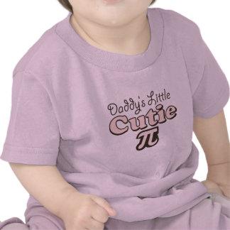T-shirt van het Baby van Cutie Pi van de papa Wein