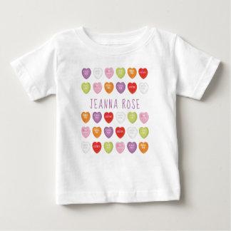 T-shirt van het Baby van het gesprek de Harten