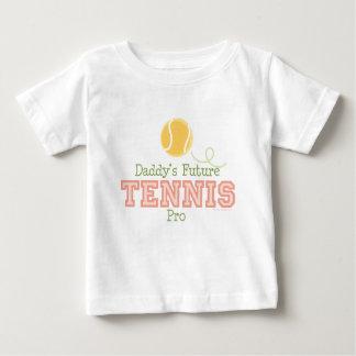 T-shirt van het Baby van het Tennis van de papa de