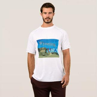 T-shirt van het Netwerk van Wyoming de Dubbele