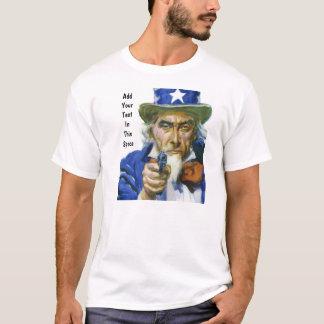 T-shirt van het pro-Pistool van oom Sam de 2de