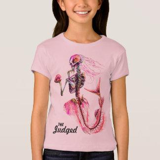 T-shirt van het Skelet van de Meermin van meisjes