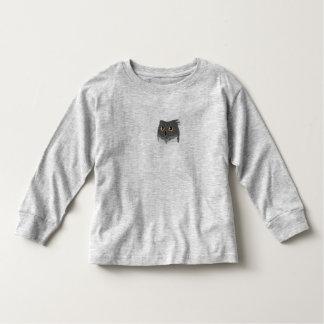 T-shirt van het Sleeve van de Peuter van de uil de