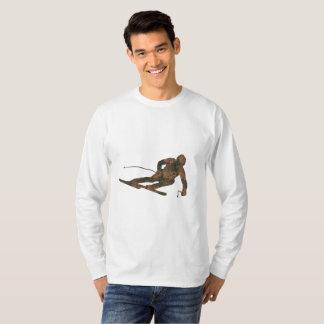T-shirt van het Sleeve van de Ski van de roest de