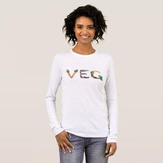 T-shirt van het Sleeve van de vegetariër of van de