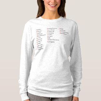 T-shirt van het Sleeve van Hanes van de Vrouwen